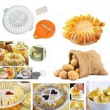 Cortador Fatiador Forma Assar Fritar Batata Frita Microondas
