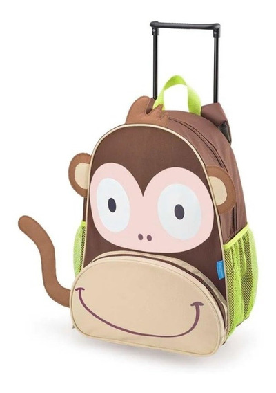Mochila Infantil Com Rodinhas Macaco Multikids Baby Bb276