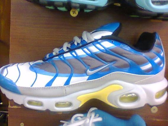 Tenis Nike Air Max Tn Plus Azul E Cinza Nº38 Ao 43 Original