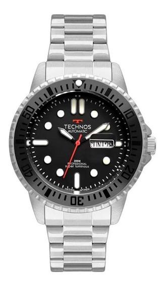 Relógio Technos Masculino Automático Prata 8205oj/1p