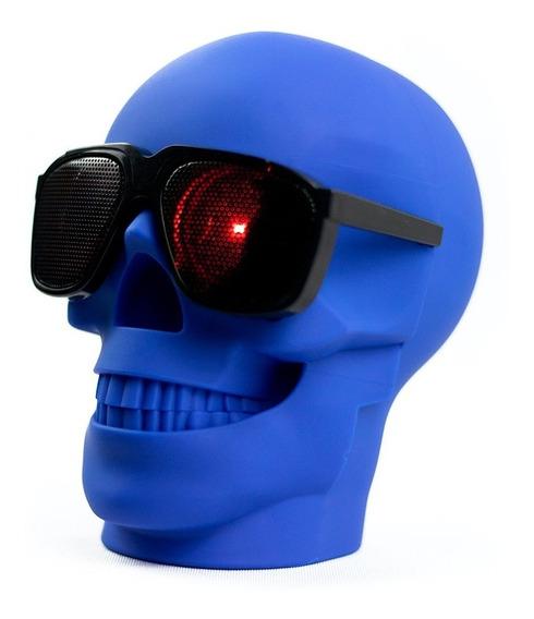 Caixa De Som Bluetooth Caveira Skull Crânio Usb Rádio Cartão
