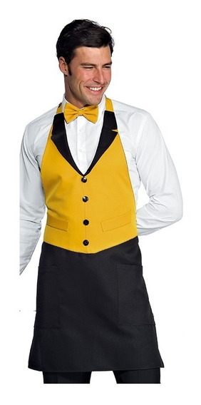 Chaleco Mandil 2piezas Elegantes Y Inc, Moño Jak Oro