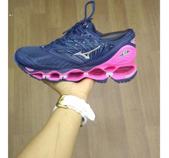 Tênis Mizuno Wave Prophecy Pro 8 Rosa E Azul