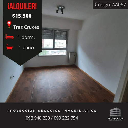 Apartamento En Tres Cruces De 1 Dormitorio