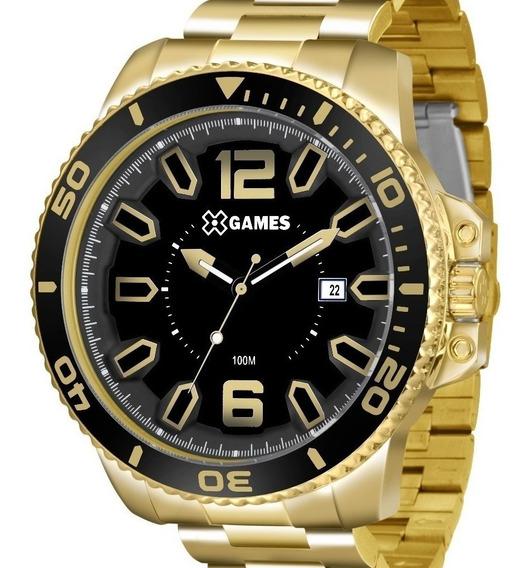 Relógio X-games Masculino Dourado - Xmgs1019 P2kx