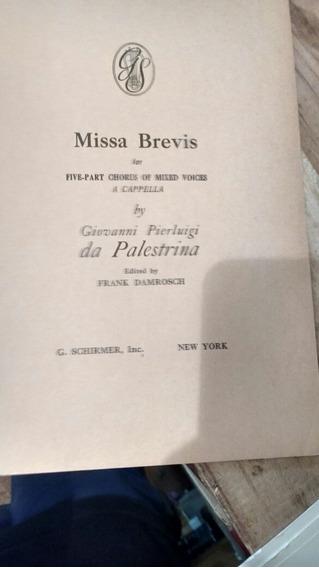 Partituras Missa Brevis For Five-part Chorusbpf Mixed Voices
