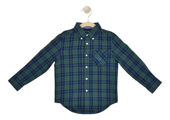 Camisa Cassual Fit Chaps Verde 332624387-2p8f Niño