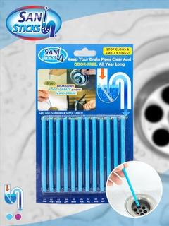 Sani Stick 12 Barritas Limpia Cañerías Y Malos Olores
