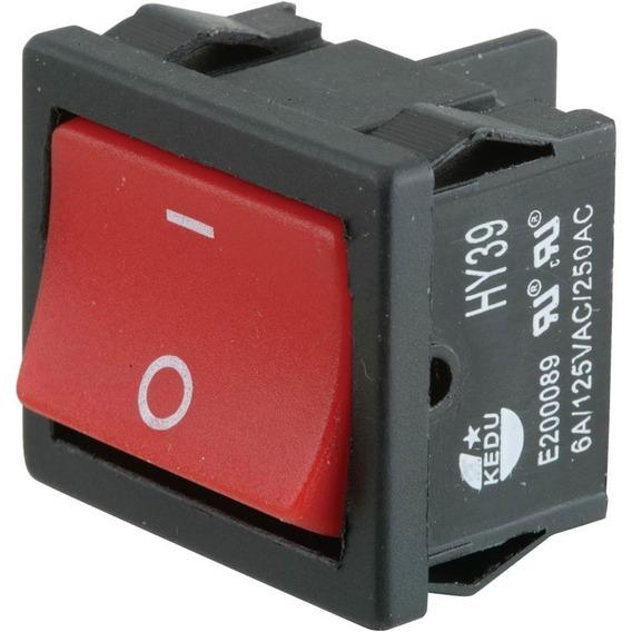 Mini Interruptor Ancho Para Maquinas 125/250v 6 Amp D4532