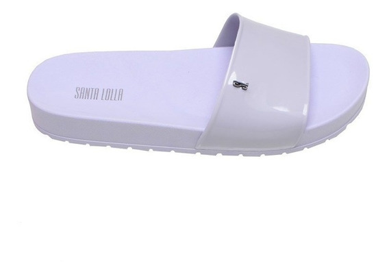 Chinelo Feminino Flip Flop Slide Santa Lolla Branco