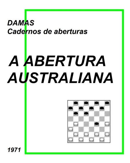 Livro Jogo De Damas Abertura Australiana Principal Linha Pdf