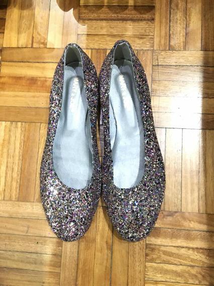 Zapatos Mery Joe Con Brillos Como Nuevo!