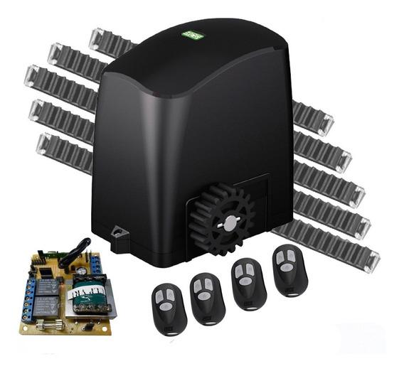 Kit Motor Deslizante 1/4 Rcg 4 Controles 4,8m Cremalheiras
