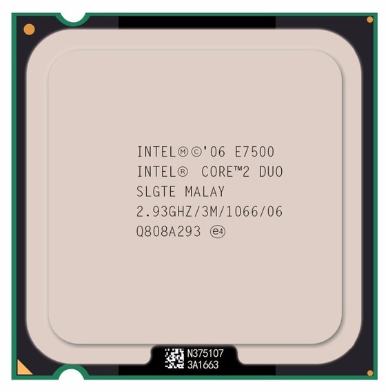 Processador Core ² Duo E7500- Soquet 775 2,93gh - 3m - 1066