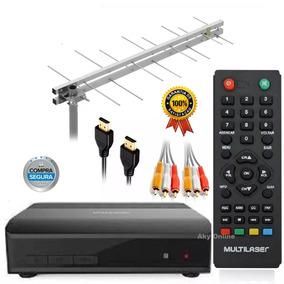 Conversor Digital Tv Gravador Antena16 Elementos Cabo