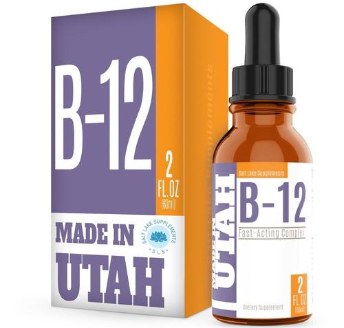 Salt Lake Vitamina B12 Liquida Sist Nervioso Saludable