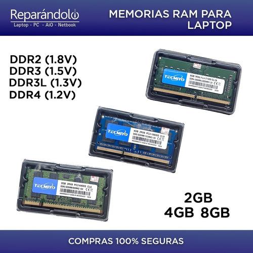 Imagen 1 de 10 de Memoria Ram Ddr4, Ddr3, Ddr3l, Ddr2 Para Laptop