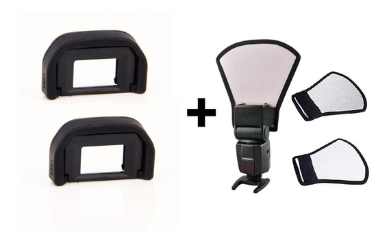 Kit 2 Oculares Canon Ef + Rebatedor P/ Flash