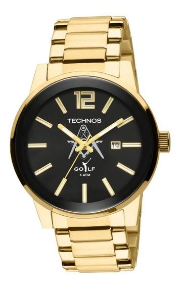 Relógio Technos Masculino Golf 2115tt/m4p Dourado Maçonaria