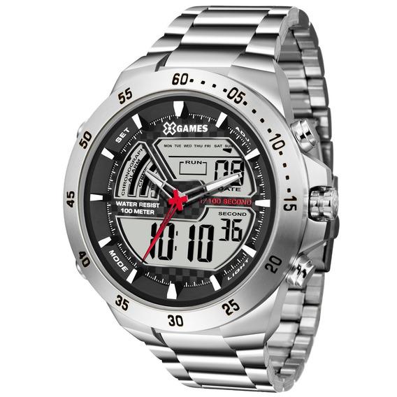 Relógio X-games Masculino Xteel Prata Xmssa005-bxsx
