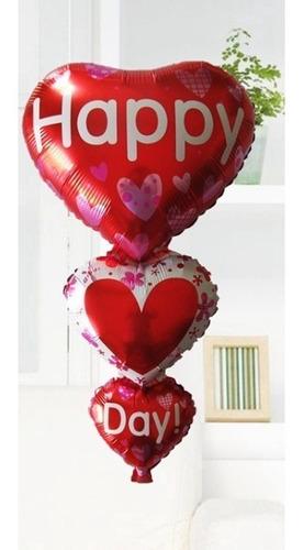 Globo Happy Day  Corazón Amor Y Amistad 85 Cm
