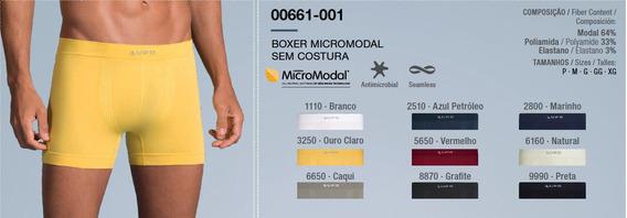 Cueca Boxer Lupo Em Micromodal Sem Costura P A Plus Especial