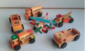 Carros De Madera Juegos Para Niños Juguetes Carritos