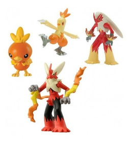 Boneco Pokémon Torchic Combusken Blaziken Mega Blaziken Tomy