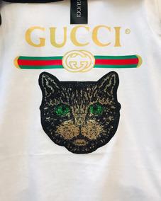 Wow!! Hermosa Blusa Playera Gucci Cat