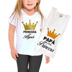 Duo Playeras Papá De Una Princesa / Princesa De Papá 2 Pzas