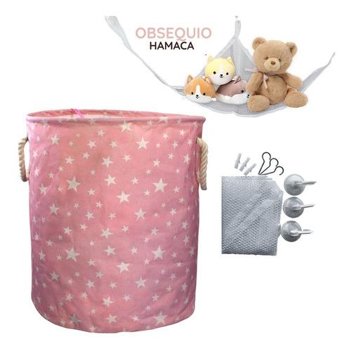 Cesta Ropa Y Juguetes Para Bebe Niñas Decorativa + Obsequio
