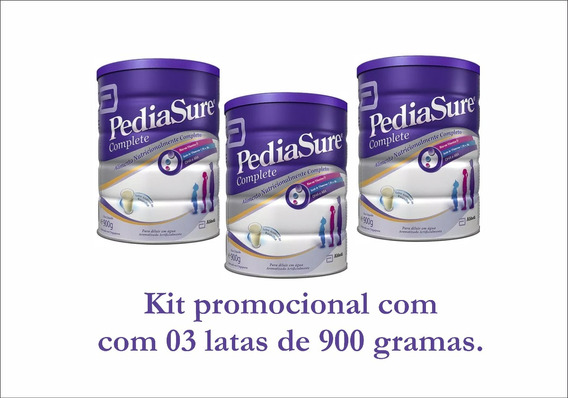 Pediasure Suplemento Infantil Pó Lata 900g Kit Com 03 Latas
