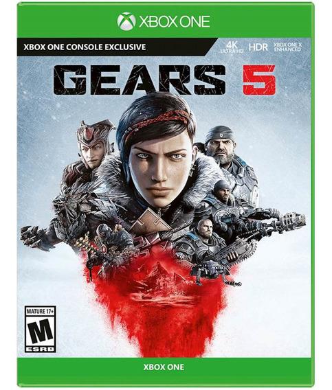 Jogo Gears Of War 5 Xbox One Disco Fisico Novo Português Br