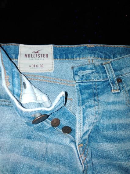 Jean Azul Nuevo Hollister 31x30 Original Caballero