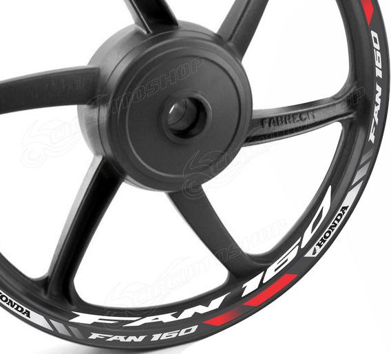 Friso + Adesivo D2 Roda Refletivo Moto Honda Cg Fan 160