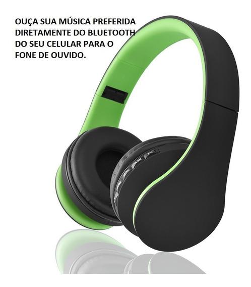 Fone De Ouvido Função Bluetooth 4.1, Mp3, Sd, Fm