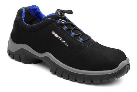 Sapato Tenis De Segurança Leve Estival Com Ca