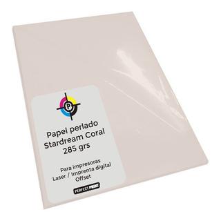 Papel Perlado 285 Grs A3 5 Hojas Stardream Color Coral Rosa