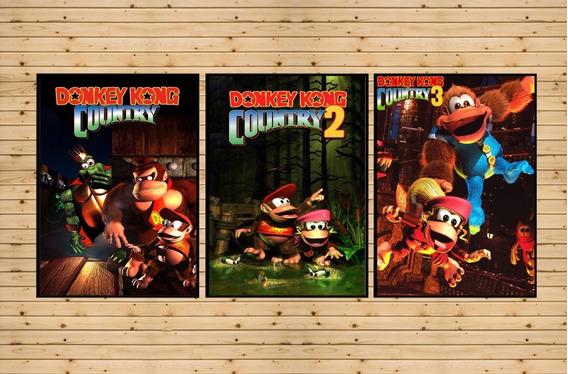 Trilogia Donkey Kong Country 1-2-3 Para Ps3 Destravado