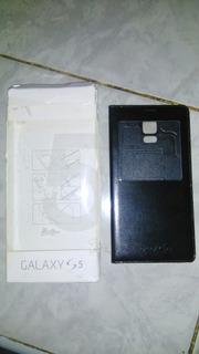 Estuche Tipo Agenda Samsung S5. Original En Cuero