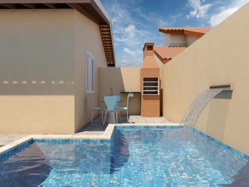 Casa Com Piscina, Em Itanhaém, Por R$250,000.00 - Ca00115 - 34758903