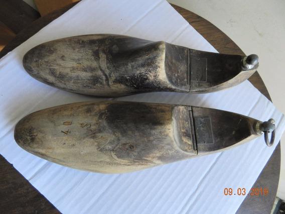 Antiguo Par De Hormas Madera N40- P Calzado Articuladas