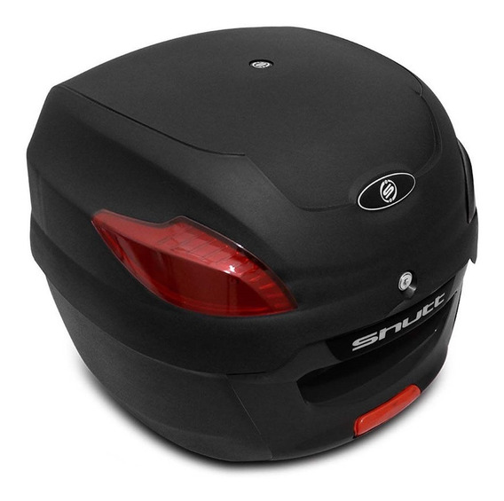 Baú Moto 41 Litros Shutt Modelo Universal Preto Bagageiro