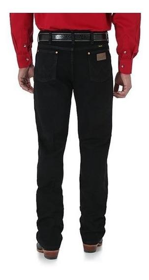 Jeans Wrangler Corte Vaquero Slim Fit Negro