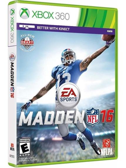 Madden 16 Xbox 360 Novo Lacrado