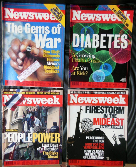 Lote 10 Revistas Newsweek Do Ano 2000 - No Estado