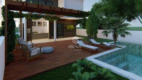 Casa Duplex Com 4 Quartos À Venda, 145 M², Condomínio Fechado, Financia - Centro - Aquiraz/ce - Ca0306