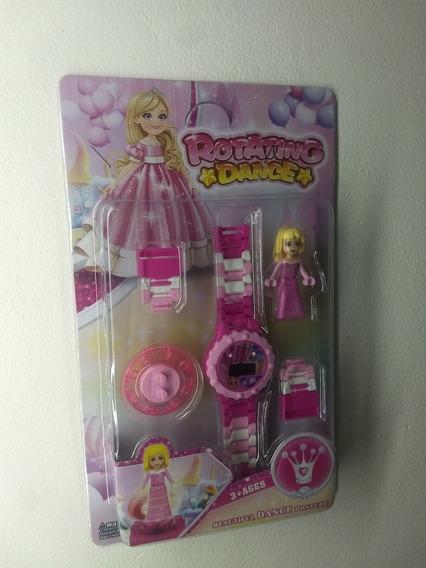 Brinquedo Relogio Digital Infantil Menina + 1 Lego Grátis