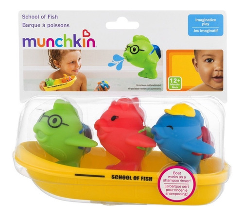 Juguete Baño Peces Lanza Agua Munchkin 44876