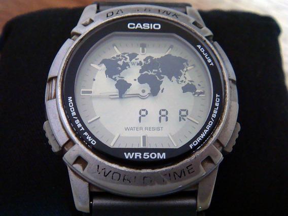 Clásico Reloj Casio Abx-20 Twincept. Vintage. Colección 90s.